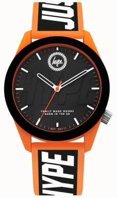 Hype | Mens Watch | Orange And Black Silicone Strap | HYG018BO