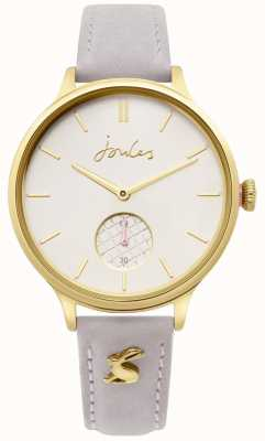 Joules | Ladies Grey Leather Strap | Gold Case | JSL014EG