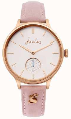 Joules | Ladies Pink Leather Strap | Rose Gold Case | JSL014PRG