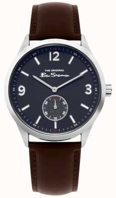Ben Sherman Mens Brown Leather Script Watch | BS020BR