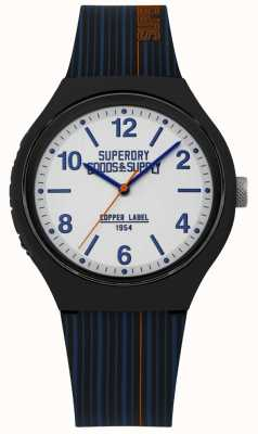 Superdry | Navy Silicone Strap | Silver Dial | SYG252U