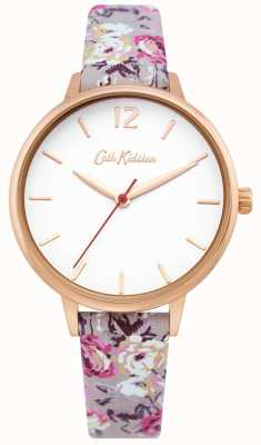 Cath Kidston | Women's Garden Watch| White Dial | Floral Leather Strap | CKL067ERG