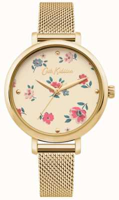 Cath Kidston | Womens Brampton Ditsy Watch| Gold Mesh Bracelet | CKL079GM
