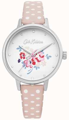 Cath Kidston | Womens Lucky Bunch Watch | Polka Dot Pink Leather | CKL070P