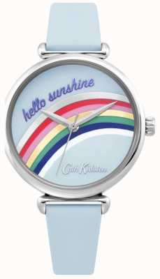 Cath Kidston | Womens Rainbow Watch | Blue Leather Strap | Rainbow Dial | CKL081U