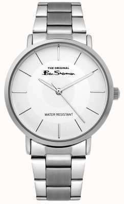 Ben Sherman | Mens Script Watch | Stainless Steel Bracelet | White Dial BS014SM