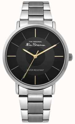 Ben Sherman | Mens Script Watch | Stainless Steel Bracelet | Black Dial BS014BSM