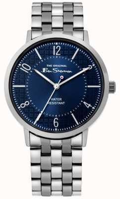 Ben Sherman | Mens Script Watch | Stainless Steel Bracelet | Blue Dial BS018USM