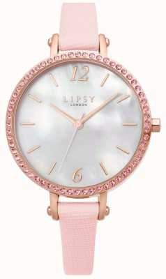 Lipsy | Womens Pink Leather Strap | White Dial | LP650