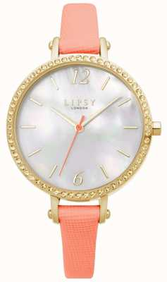 Lipsy | Womens Coral Leather Strap | White Dial | LP649