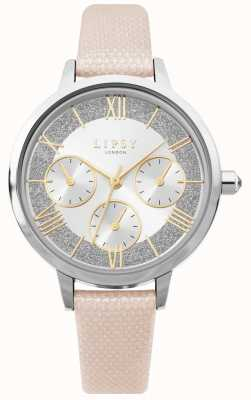 Lipsy | Womens Pink Leather Strap | Silver Dial | Chronograph | LP652