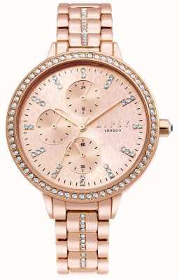 Lipsy | Womens Rose Gold Steel Bracelet | Rose Gold Dial | LP630