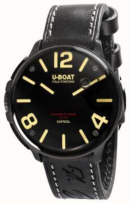 U-Boat Capsoil DLC Electromechanics Black Leather Strap 8108/A