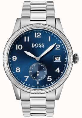 Hugo Boss | Mens Legacy Watch | Stainless Steel | Blue Dial | 1513707