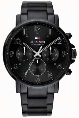 Tommy Hilfiger Daniel | Black IP Steel Bracelet | Black Dial 1710383