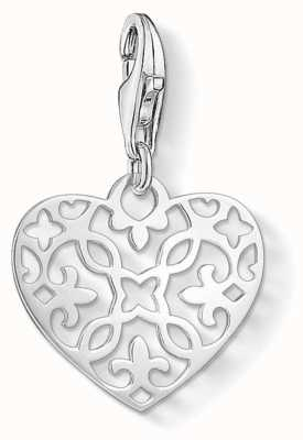 Thomas Sabo | Ornament Heart Charm | 925 Sterling Silver | 1497-001-12