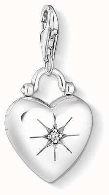 Thomas Sabo | Heart Locket | Sterling Silver | Blackened Zirconia | 1746-643-14