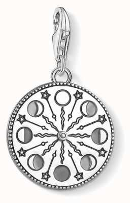 Thomas Sabo | Moonphase Charm | Blackened Sterling Silver | 1753-637-21