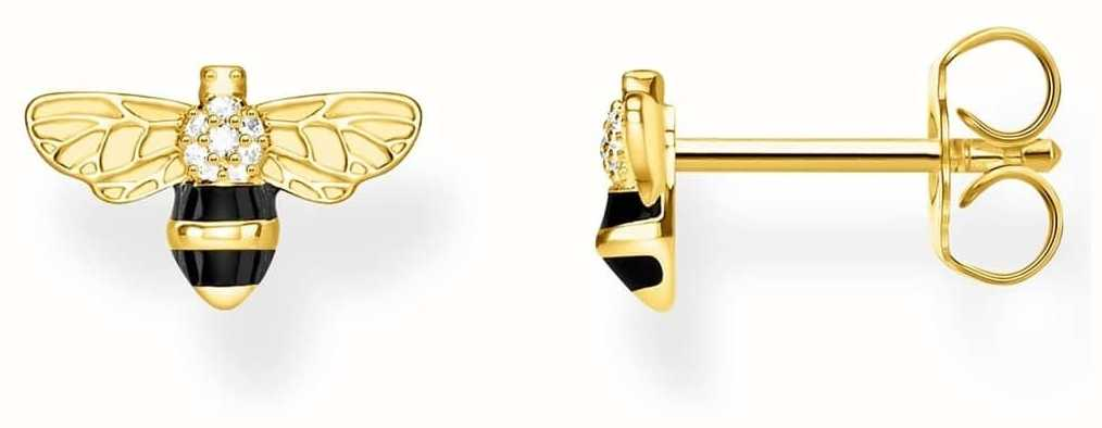 Thomas Sabo | Sterling Silver Gold Plated 'Bee' Earrings | H2052-565-7