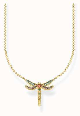 Thomas Sabo | Sterling Silver Gold Plated Dragonfly Necklace | KE1837-974-7-L45V