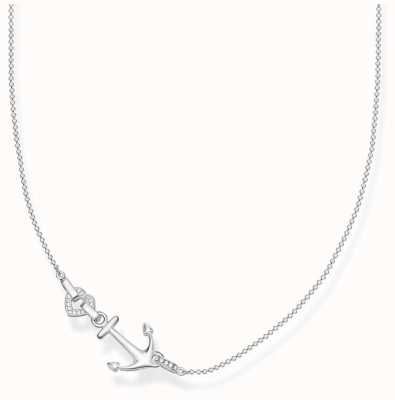 Thomas Sabo | Sterling Silver Anchor And Heart Necklace | KE1851-051-14-L45V