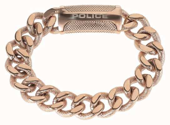 Police Mens Rose Gold PVD Plated Chain Bracelet 25508BSRG/03-L