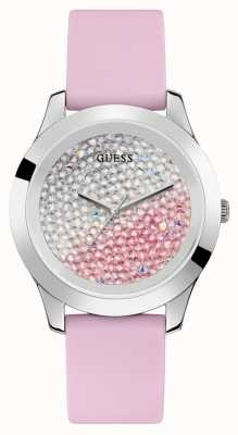 Guess | Womens Crush | Pink Rubber Strap | Two Tone Dial | W1223L1