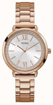 Guess | Womens Posh | Rose Gold Bracelet | Silver Dial | W1231L3