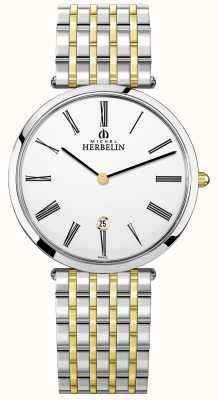 Michel Herbelin | Mens | Epsilon | Extra Flat Two Tone Bracelet | 19416/BT11