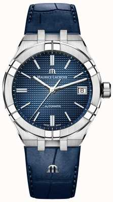 Maurice Lacroix Aikon Automatic 39mm Blue Dial Blue Leather Strap AI6007-SS001-430-1