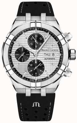 Maurice Lacroix Aikon Automatic Chronograph Black Panda Dial Black Strap AI6038-SS001-132-1