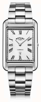 Rotary | Gents Stainless Steel Bracelet | White Dial | GB05280/01