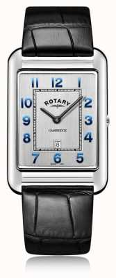 Rotary | Gents Black Leather Strap date| GS05280/70
