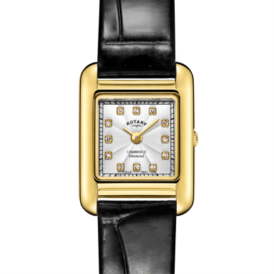 Rotary | Ladies Black Leather Strap | Gold Case | LS05288/70/D
