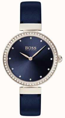 Hugo Boss | Ladies Blue Leather Strap | Blue Dial | 1502477