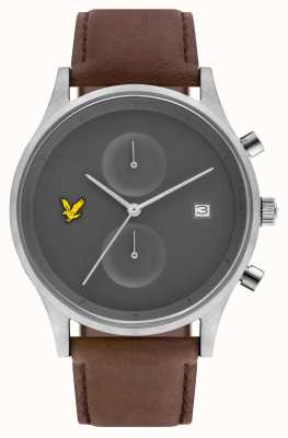 Lyle & Scott Mens The Hope Chronograph Brown Leather Strap Grey Dial LS-6007-03