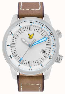 Lyle & Scott Mens Border Brown Leather Strap White Dial LS-6010-01