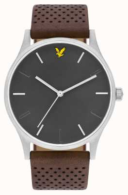 Lyle & Scott Mens Hope LE Brown Leather Strap Grey Dial LS-6014-01