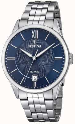 Festina | Mens Stainless Steel Bracelet | Blue Dial | F20425/2