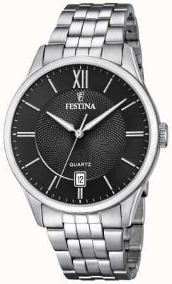 Festina | Mens Stainless Steel Bracelet | Black Dial | F20425/3