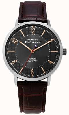 Ben Sherman | Gents Leather Croc Strap | BS018BR