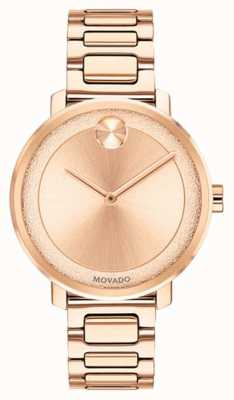 Movado Bold | Rose Gold Plated Watch| 3600503
