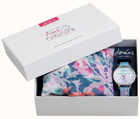 Joules | Womens Watch And Scarf Gift Set | JSL015USSET