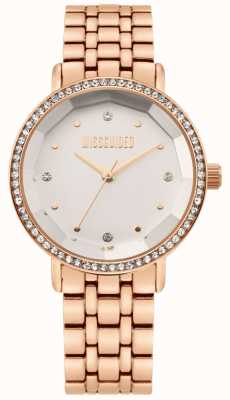 Missguided | Women's Rose Gold Stainless Steel Bracelet | White Dial | MG021RGM