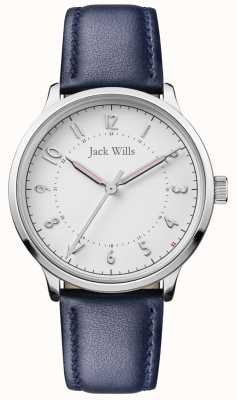 Jack Wills | Womens Knowle | Blue Leather Strap | White Dial | JW017WHNV