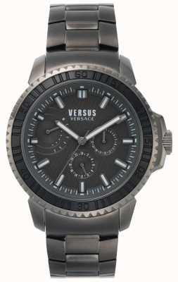 Versus Versace   Mens Aberdeen   Black Dial   Grey Stainless Steel Bracelet VSPLO0819