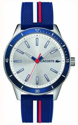 Lacoste | Mens Key West | Blue Silicone Strap | Silver Dial | 2011006