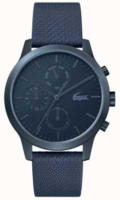 Lacoste | Mens 12-12 | Blue Leather Strap | Blue Dial | 2010998