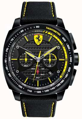 Scuderia Ferrari | Mens Aero Evo | Black Material Strap | Black Dial | 0830615