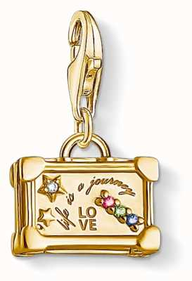 Thomas Sabo Charm Pendant 925 Silver Gold Plated Yellow/cz Travel Case 1763-996-7